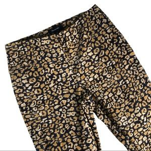 Who What Wear Animal Print Short Crop Pants Sz 12